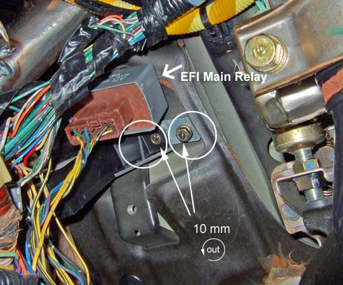 honda accord main relay location remove the main relay nuts and the main relay