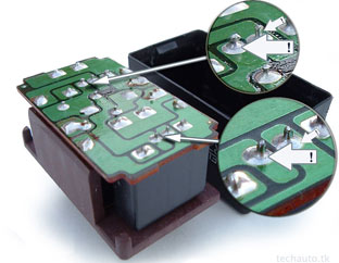 Picture of where to solder