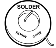 drawing of a rosin solder
