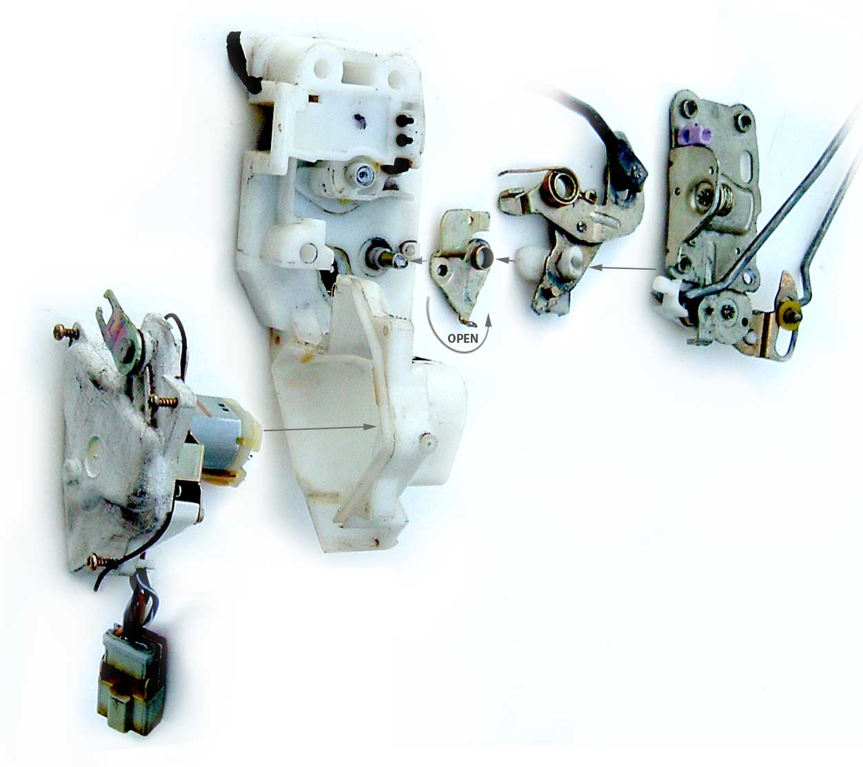 actuator door lock exploded view. Exploded diagram view of the Accord ...